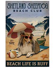 Vintage Beach Club Is Ruff Shetland Sheepdog 11x17 Poster front