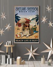 Vintage Beach Club Is Ruff Shetland Sheepdog 11x17 Poster lifestyle-holiday-poster-1