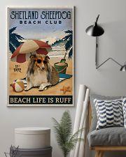 Vintage Beach Club Is Ruff Shetland Sheepdog 11x17 Poster lifestyle-poster-1
