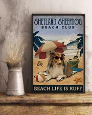 Vintage Beach Club Is Ruff Shetland Sheepdog 11x17 Poster lifestyle-poster-3