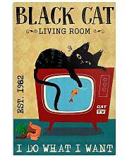 Living Room Black Cat 11x17 Poster front
