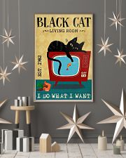 Living Room Black Cat 11x17 Poster lifestyle-holiday-poster-1