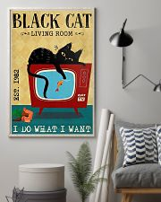 Living Room Black Cat 11x17 Poster lifestyle-poster-1