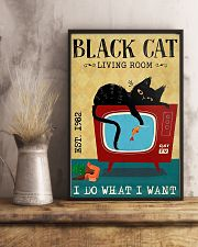 Living Room Black Cat 11x17 Poster lifestyle-poster-3