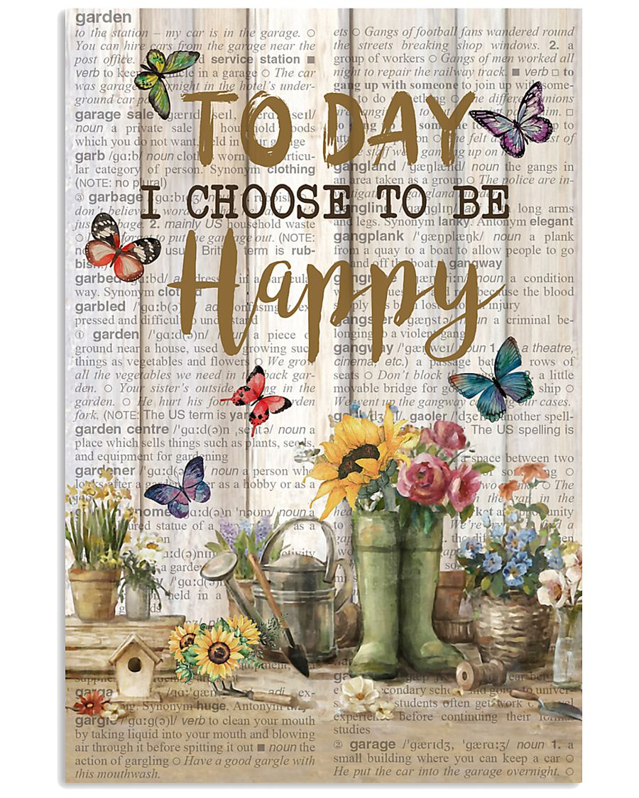 Pallet Garden Choose To Be Happy Butterfly 11x17 Poster