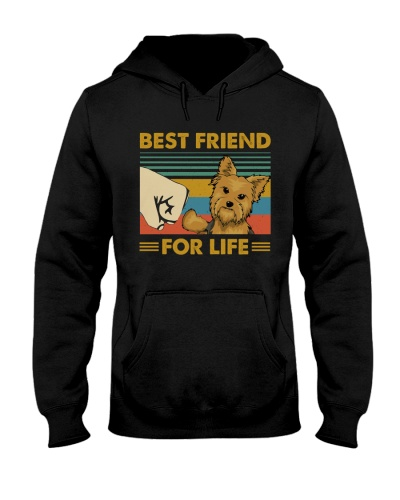 Retro Blue Best Friend For Life Yorkshire Terrier