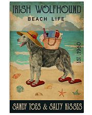 Beach Life Sandy Toes Irish Wolfhound 11x17 Poster front