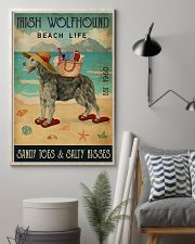 Beach Life Sandy Toes Irish Wolfhound 11x17 Poster lifestyle-poster-1
