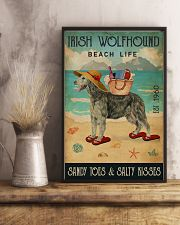 Beach Life Sandy Toes Irish Wolfhound 11x17 Poster lifestyle-poster-3