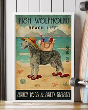 Beach Life Sandy Toes Irish Wolfhound 11x17 Poster lifestyle-poster-4