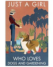 Vintage Just A Girl Loves Gardening And Collie 11x17 Poster front