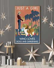 Vintage Just A Girl Loves Gardening And Collie 11x17 Poster lifestyle-holiday-poster-1