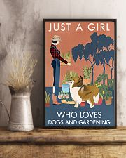 Vintage Just A Girl Loves Gardening And Collie 11x17 Poster lifestyle-poster-3