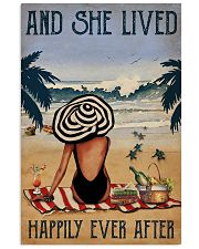 Vintage Beach Lived Happily Sea Turtles Girl 16x24 Poster front