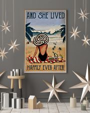 Vintage Beach Lived Happily Sea Turtles Girl 16x24 Poster lifestyle-holiday-poster-1