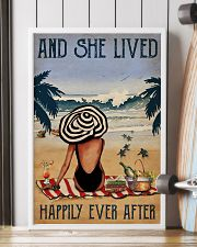 Vintage Beach Lived Happily Sea Turtles Girl 16x24 Poster lifestyle-poster-4