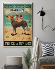 Beach Life Sandy Toes Chinese Crested Dog 11x17 Poster lifestyle-poster-1