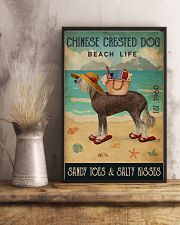 Beach Life Sandy Toes Chinese Crested Dog 11x17 Poster lifestyle-poster-3