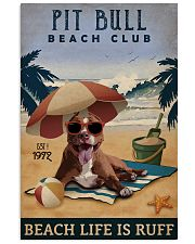 Vintage Beach Club Is Ruff Pit Bull 11x17 Poster front