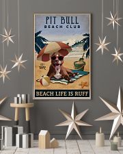 Vintage Beach Club Is Ruff Pit Bull 11x17 Poster lifestyle-holiday-poster-1