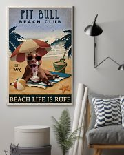 Vintage Beach Club Is Ruff Pit Bull 11x17 Poster lifestyle-poster-1