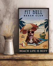 Vintage Beach Club Is Ruff Pit Bull 11x17 Poster lifestyle-poster-3