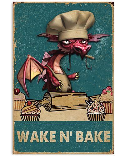 Retro Teal Wake N' Bake Dragon