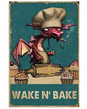 Retro Teal Wake N' Bake Dragon 11x17 Poster front