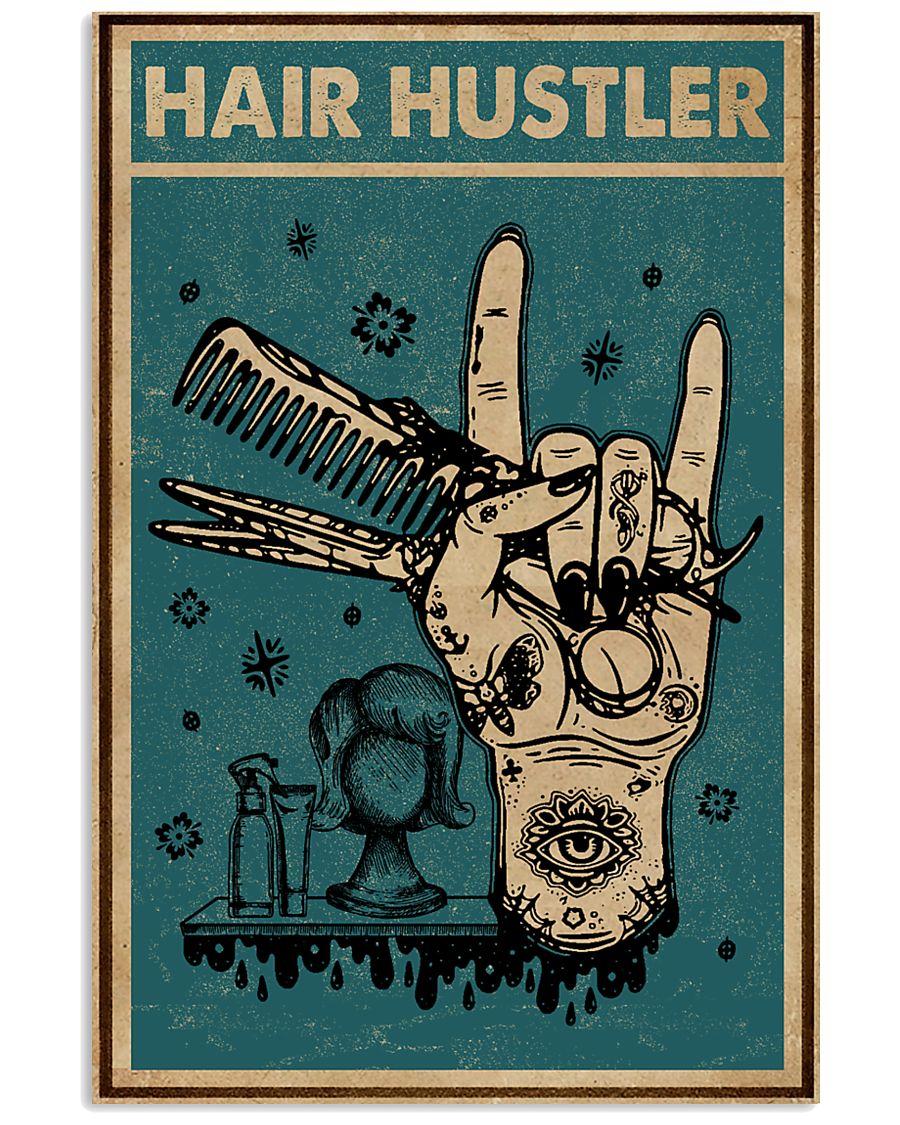 Retro Hair Hustler Hairstylist 11x17 Poster