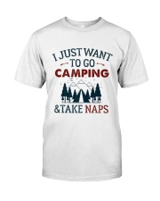 I Just Want To Go Camping - On Sale Classic T-Shirt front