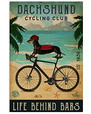 Cycling Club Dachshund 11x17 Poster front