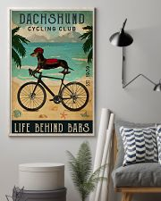 Cycling Club Dachshund 11x17 Poster lifestyle-poster-1