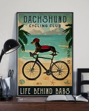 Cycling Club Dachshund 11x17 Poster lifestyle-poster-2