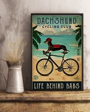Cycling Club Dachshund 11x17 Poster lifestyle-poster-3