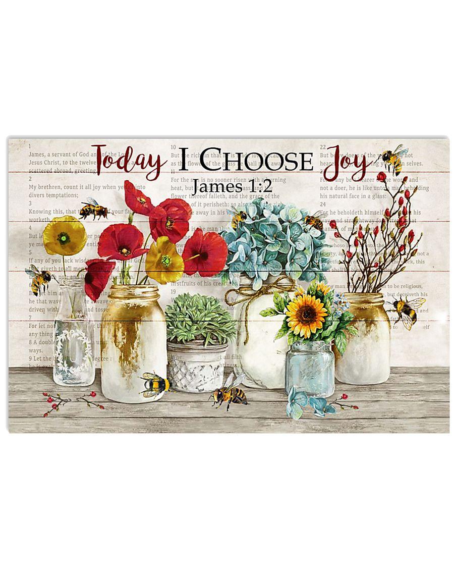 Catchphrase Today I Choose Joy Bee 17x11 Poster