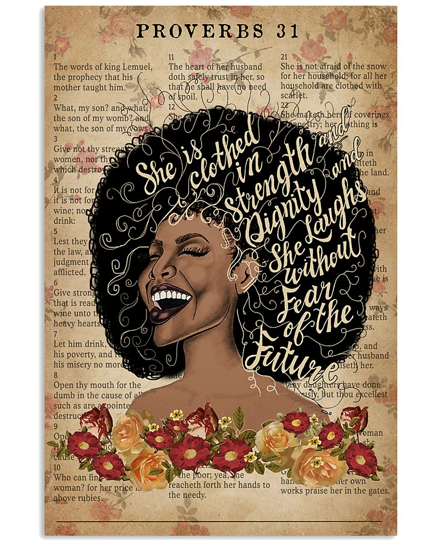 She Is Clothed With Strength Black Girl 11x17 Poster