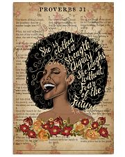 She Is Clothed With Strength Black Girl 11x17 Poster front