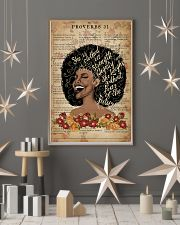She Is Clothed With Strength Black Girl 11x17 Poster lifestyle-holiday-poster-1