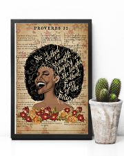 She Is Clothed With Strength Black Girl 11x17 Poster lifestyle-poster-8