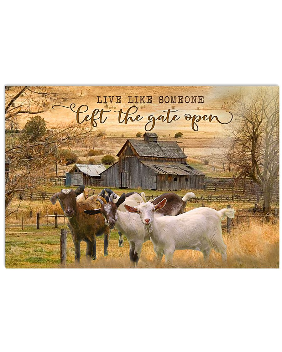 Goat Let The Gate Open 24x16 Poster
