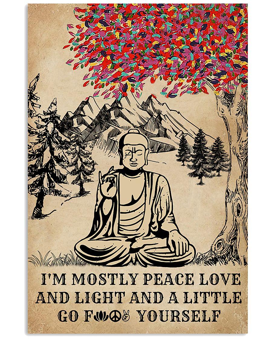Buddha Yoga And Litter Go Yourself 16x24 Poster