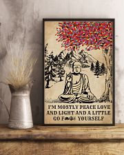 Buddha Yoga And Litter Go Yourself 16x24 Poster lifestyle-poster-3