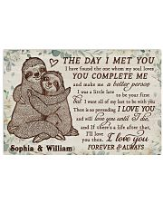 Personalized Sloth The Day I Met 24x16 Poster front