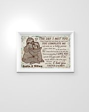 Personalized Sloth The Day I Met 24x16 Poster poster-landscape-24x16-lifestyle-02
