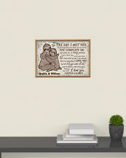 Personalized Sloth The Day I Met 24x16 Poster poster-landscape-24x16-lifestyle-09