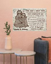 Personalized Sloth The Day I Met 24x16 Poster poster-landscape-24x16-lifestyle-22