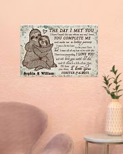 Personalized Sloth The Day I Met 24x16 Poster poster-landscape-24x16-lifestyle-23