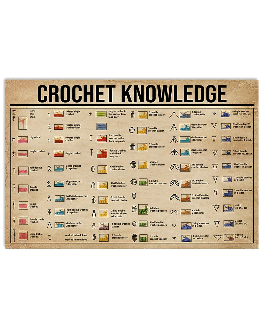Crochet Knowledge 36x24 Poster