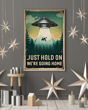 Retro Sky Just Hold On UFO 11x17 Poster lifestyle-holiday-poster-1