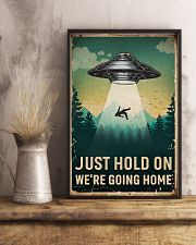 Retro Sky Just Hold On UFO 11x17 Poster lifestyle-poster-3